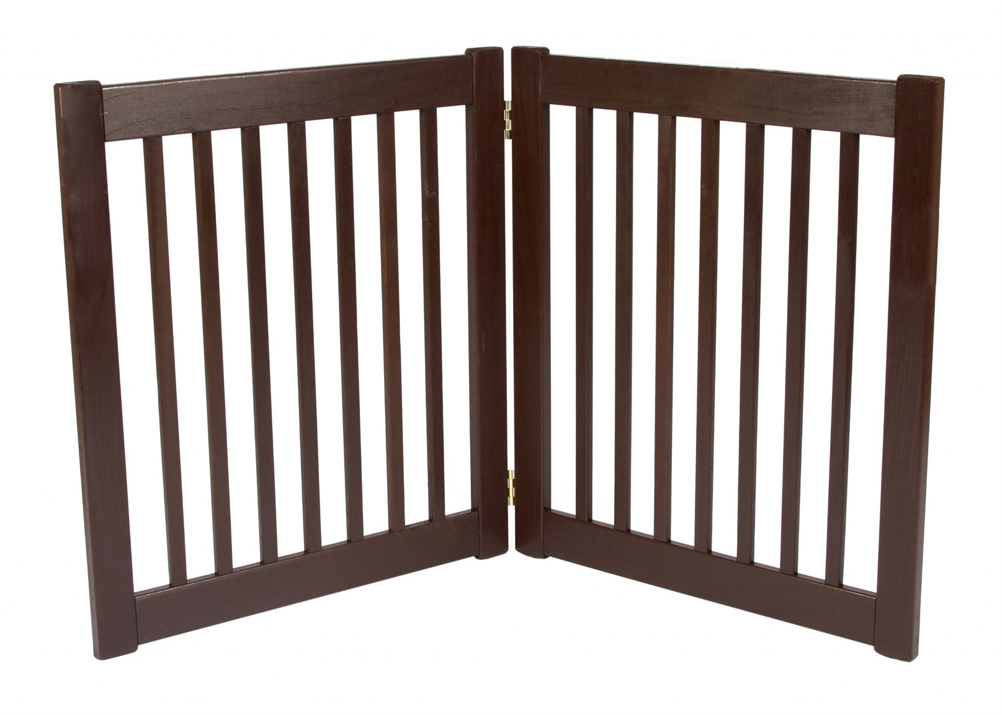Free Standing 2 Panel 27 Inch EZ Pet Gate Mahogany 42220 Formation