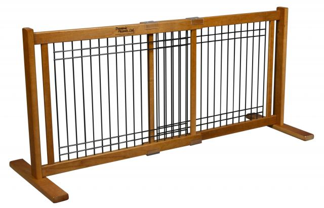 Free Standing Large Wood-Wire Pet Gate 42603 Formation B