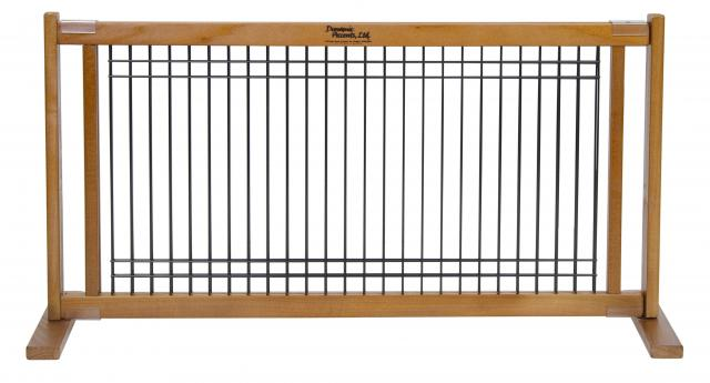 free standing 20 inch woodwire small pet gate 2848w