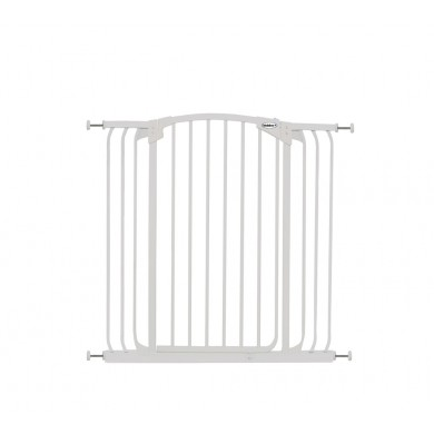 Bindaboo Extra Tall Hallway Pet Gate White B1123