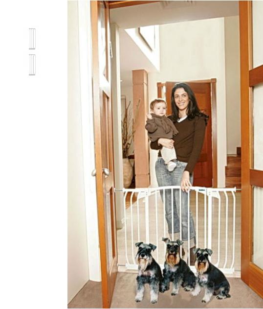 Bindaboo Hallway Safety Pet Gate White B1103-B1109-B1109