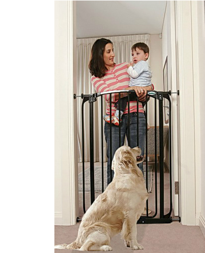 Bindaboo Extra Tall Swing Close Pet Gate Black B1122-500
