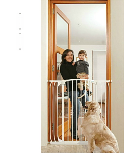 Bindaboo Extra Tall Hallway Pet Gate White B1123-B1125-B1125
