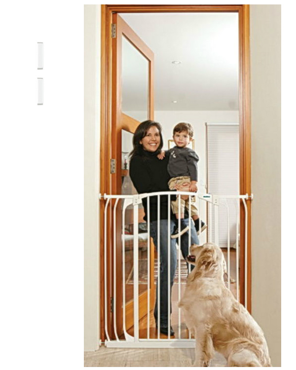 Bindaboo Extra Tall Hallway Pet Gate White B1123-B1129-B1129
