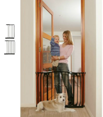 Hallway Security Pet Safety Gate Black F170B-F831B-F832B