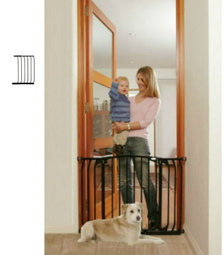 Hallway Security Pet Safety Gate Black F170B-F832B