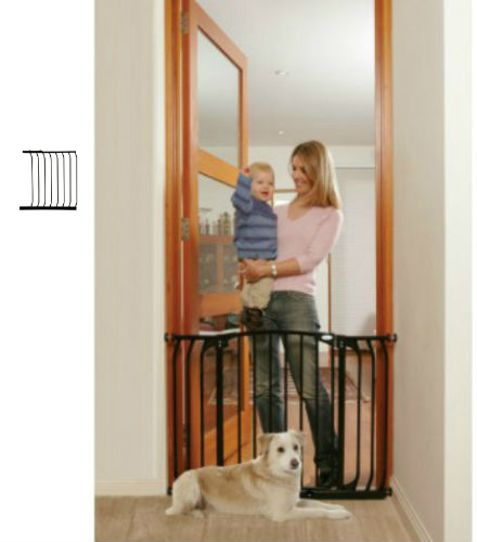 Hallway Security Pet Safety Gate Black F170B-F834B