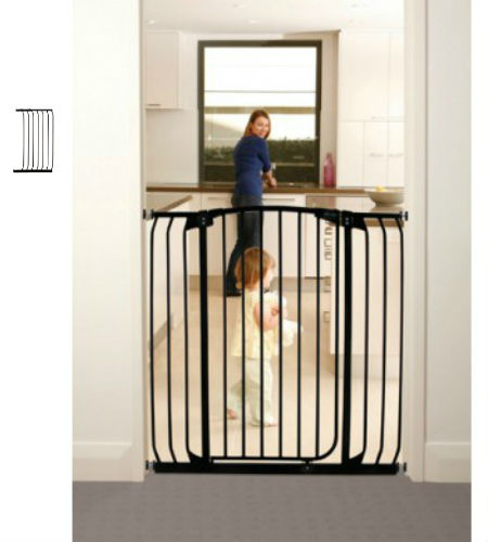 Tall Hallway Pet Gate Plus 21 60 To 63w Black Baby And