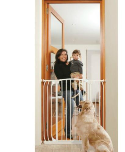 Bindaboo Extra Tall Hallway Pet Gate White F191W-500