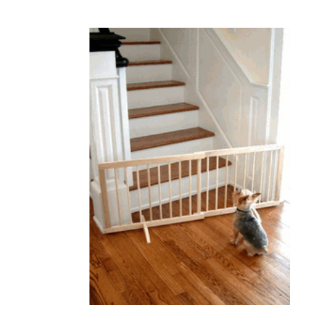 Step Over Wood Pet Gate Natural SG-N
