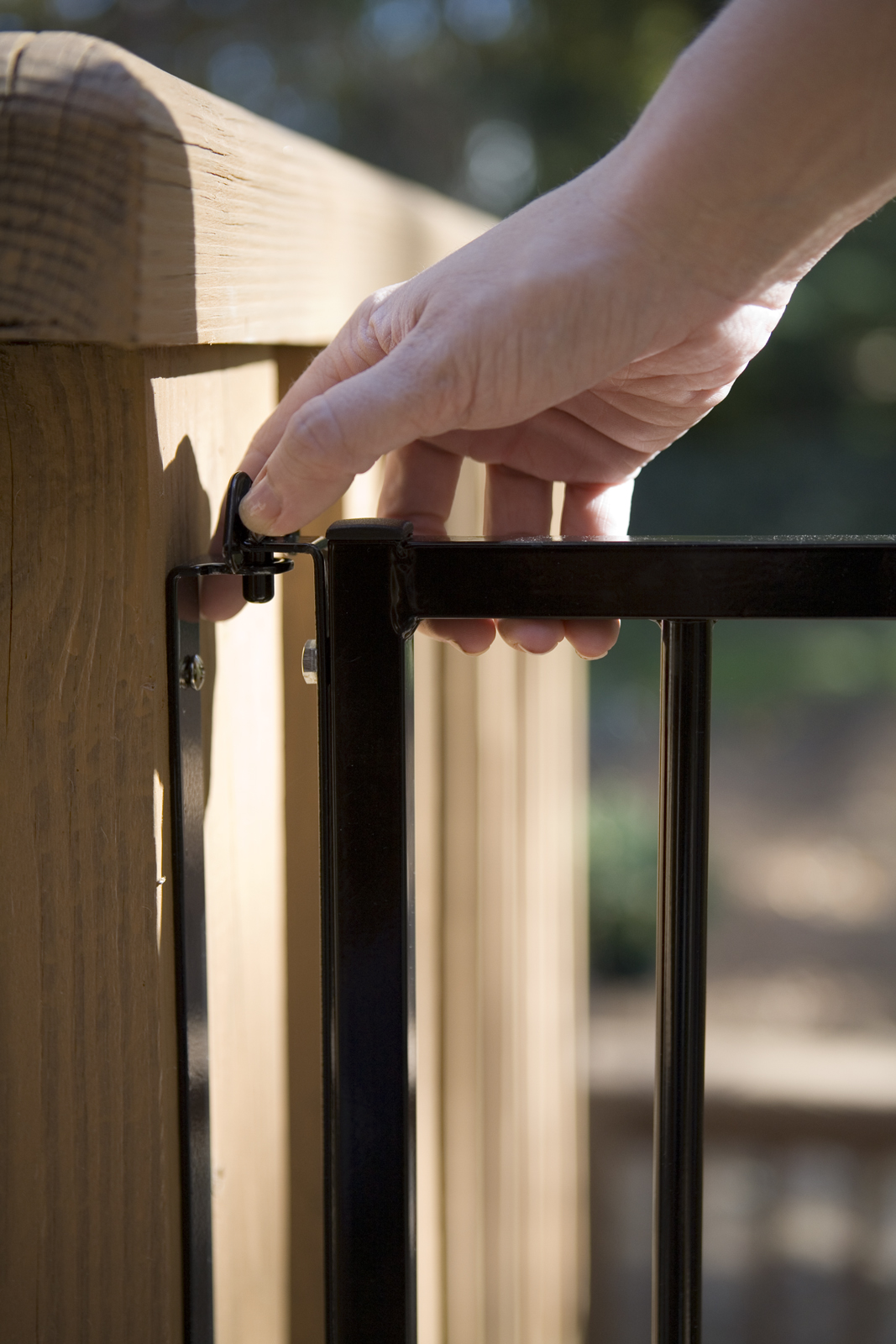 Stairway Pet Gate For Outdoors in Black SS30A-3