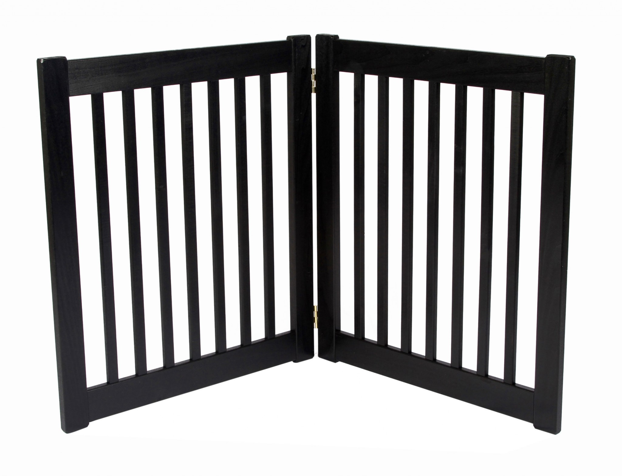 Free Standing 2 Panel 27 Inch EZ Pet Gate Black 42420 Formation