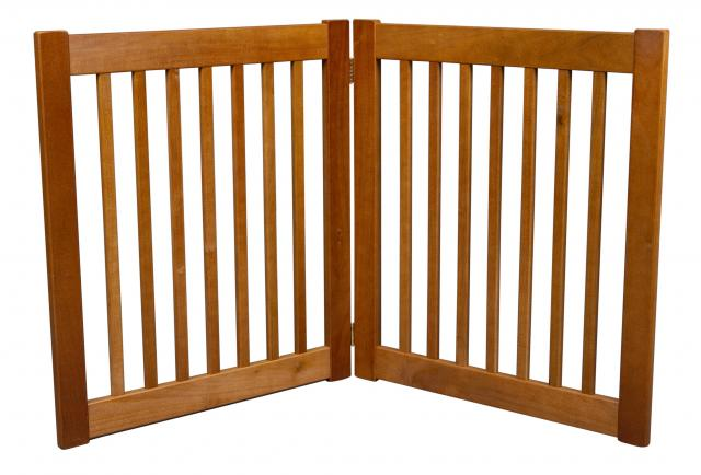 Free Standing 2 Panel 27 Inch EZ Pet Gate Artisan Bronze 42620 Formation