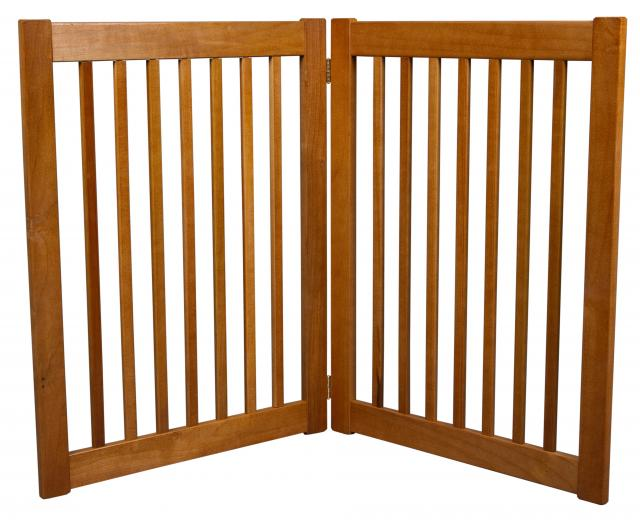 Free Standing 2 Panel 32 Inch Pet Gate Artisan Bronze 42622