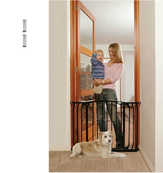 Bindaboo Hallway Safety Pet Gate Black B1104-B1110-B1110