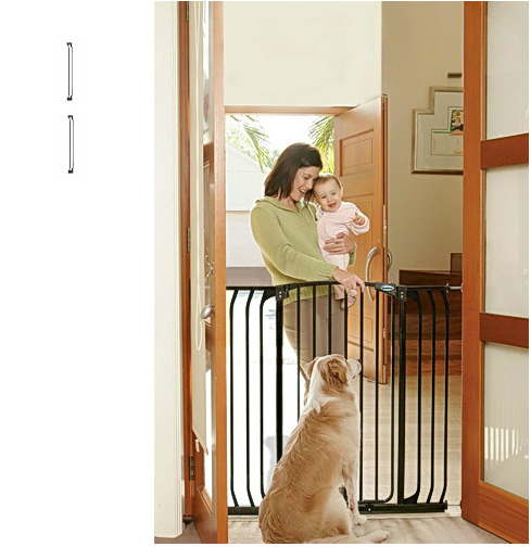 Bindaboo Extra Tall Hallway Pet Gate Black B1124-B1126-B1126