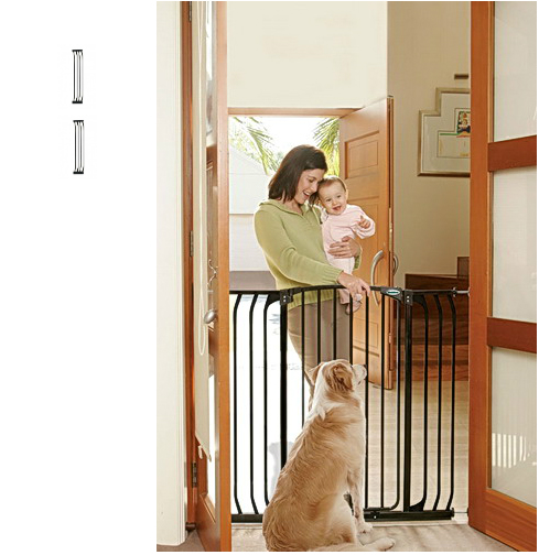 Bindaboo Extra Tall Hallway Pet Gate Black B1124-B1130-B1130