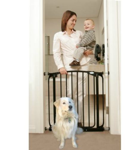 Swing Close Security Baby Gate Black F160B-500