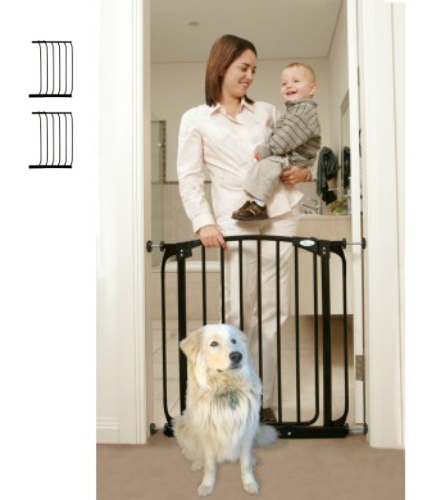 Swing Close Baby Safety Gate Black F160B-F832B-F832B