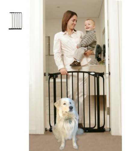 Swing Close Baby Safety Gate Black F160B-F832B