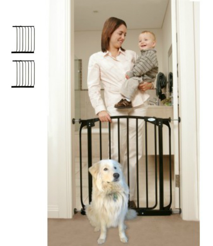 Swing Close Baby Safety Gate Black F160B-F833B-F833B