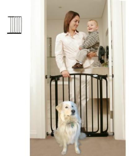 Swing Close Baby Safety Gate Black F160B-F833B