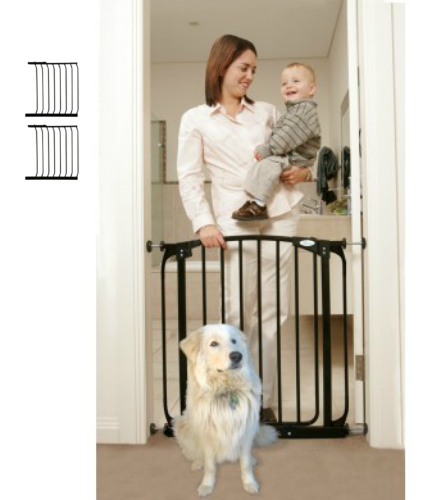 Swing Close Baby Safety Gate Plus Black F160B-F834B-F834B