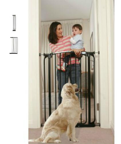 Black Extra Tall Swing Close Baby Gate F190B-F194B-F841B