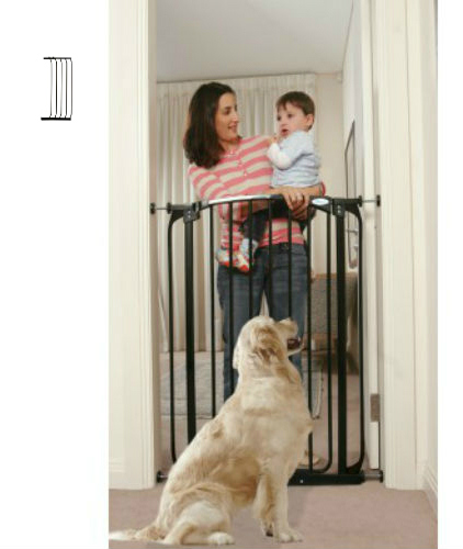 Extra Tall Swing Close Baby Gate Black F190B-F841B
