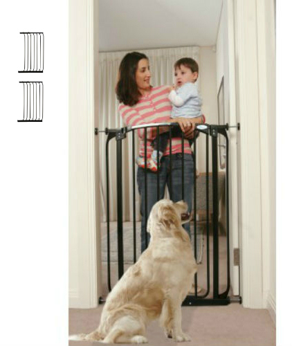 Extra Tall Swing Close Baby Gate Black F190B-F843B-F843B