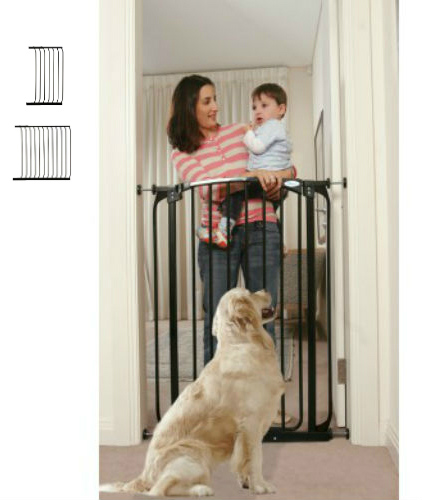 Extra Tall Swing Close Baby Gate Black F190B-F843B-F845B