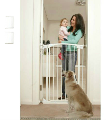Extra Tall Swing Close Baby Gate White F190W-F844W-F844W