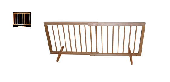 Step Over Wood Pet Gate With Extension Oak SG-SGX-O