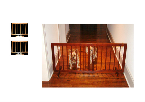 Step Over Wood Pet Gates Walnut SG-SGX-SGX-WA