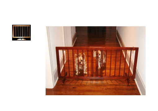 Step Over Wood Pet Gate With Extension Walnut SG-SGX-WA