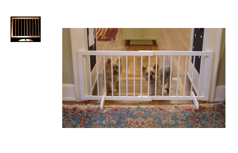 Step Over Wood Pet Gate With Extension White SG-SGX-WH