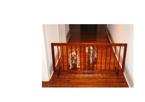 Step Over Wood Pet Gate Walnut SG-WA