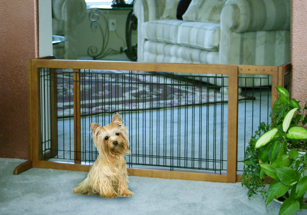 Freestanding Large Pet Gate - Brown (40 to 70)