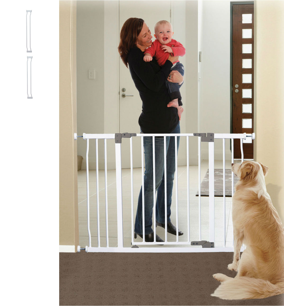 Liberty Xtra Hallway Security Baby Gate Plus Two 3.5 U2013 White (46 To 49W)