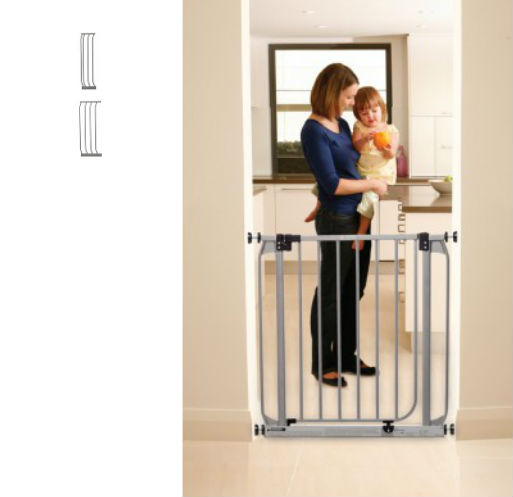 dawson swing closed security baby gate plus 7 105 u2013 silver 465 to 49w