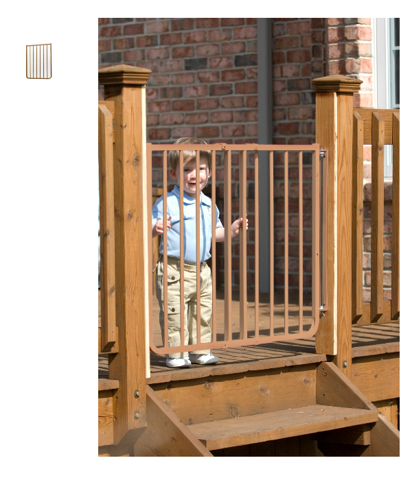Stairway Baby Gate For Outdoors Plus 21 75 Ext Brown 49