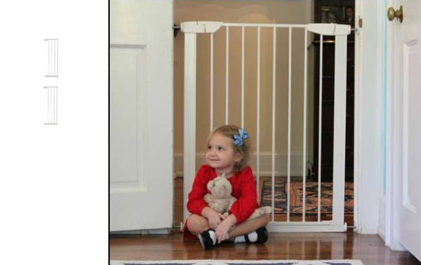 Extra Tall Premium Pressure Baby Gate Plus Two 11 White 51 5w To