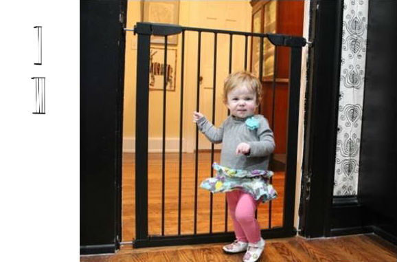 Etonnant Extra Tall Premium Pressure Baby Gate Plus 5 And 11 U2013 Black (46W To 48.75)